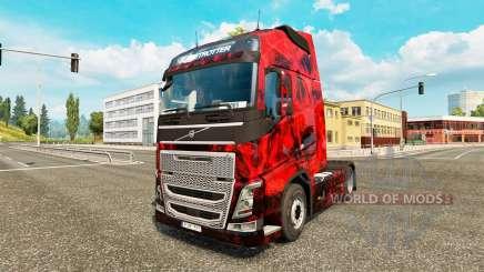 Скин Demon Skull на тягач Volvo для Euro Truck Simulator 2
