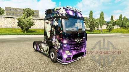 Скин Peach Girl на тягач Mercedes-Benz для Euro Truck Simulator 2