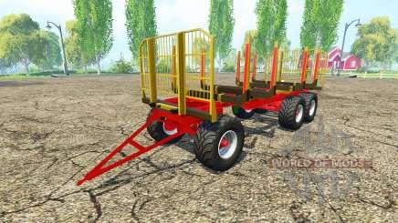 Лесовозный прицеп Fliegl v2.4 для Farming Simulator 2015