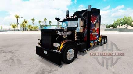 Скин American Legend на тягач Peterbilt 389 для American Truck Simulator