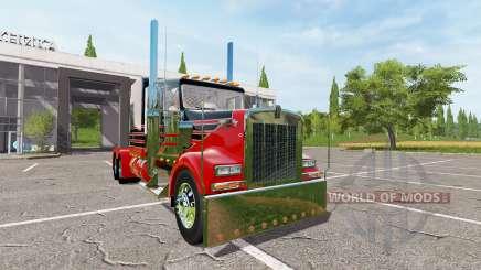Kenworth W900 reworked для Farming Simulator 2017