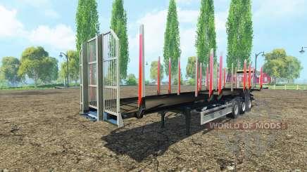 Полуприцеп сортиментовоз Fliegl v1.1 для Farming Simulator 2015
