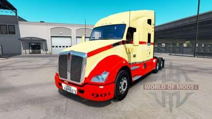 Скин TLM на тягач Kenworth T680 для American Truck Simulator