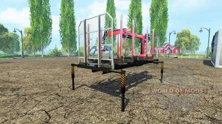 Лесовозная платформа с манипулятором для Farming Simulator 2015