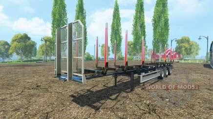 Полуприцеп сортиментовоз Fliegl v2.0 для Farming Simulator 2015