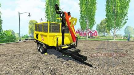 Щепорубительный прицеп v2.0 для Farming Simulator 2015