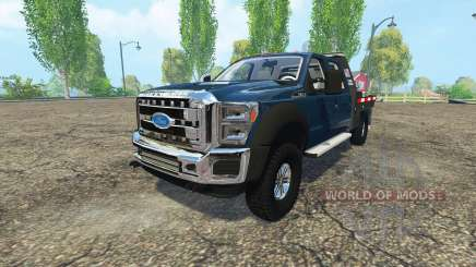 Ford F-550 flatbed для Farming Simulator 2015