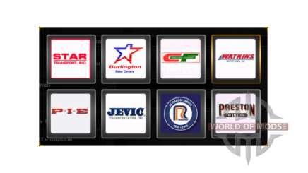 Логотипы компаний США для American Truck Simulator