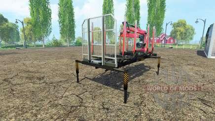 Лесовозная платформа с манипулятором v1.6 для Farming Simulator 2015