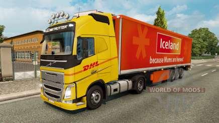 Скины для грузового трафика v2.2 для Euro Truck Simulator 2