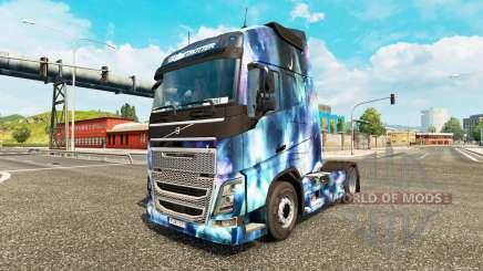 Скин Space Nature на тягач Volvo для Euro Truck Simulator 2
