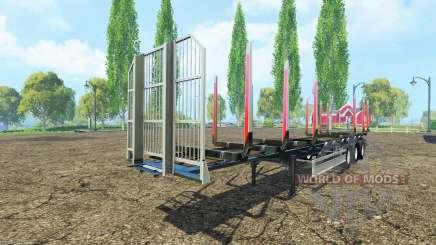 Полуприцеп сортиментовоз Fliegl v3.0 для Farming Simulator 2015