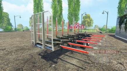 Полуприцеп сортиментовоз Fliegl v1.5 для Farming Simulator 2015