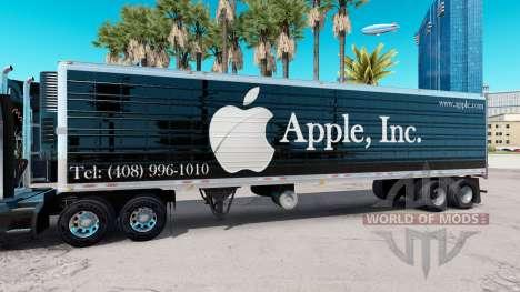 Сборник скинов на полуприцеп v5.0 для American Truck Simulator