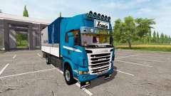 Scania R730 tandem v1.1 для Farming Simulator 2017