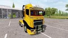Scania R1000 Caterpillar для Farming Simulator 2017
