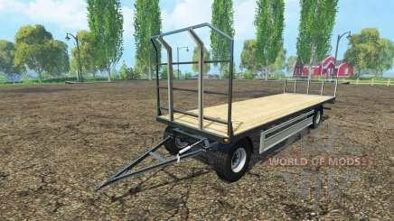 Fliegl bales trailer для Farming Simulator 2015