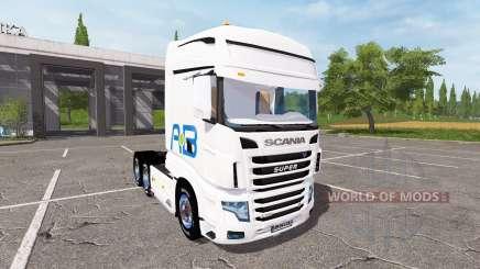 Scania R700 Evo AB Texel для Farming Simulator 2017