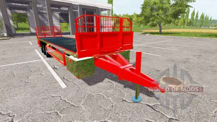Platform bales trailer для Farming Simulator 2017