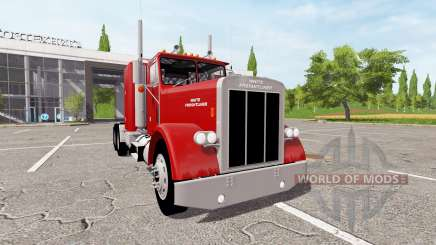 White-Freightliner Conventional для Farming Simulator 2017