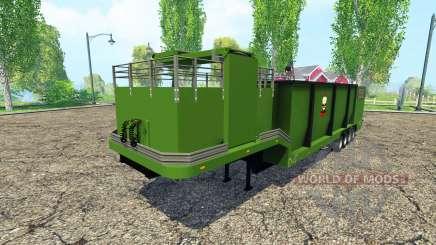 Щепорубительный полуприцеп v1.1 для Farming Simulator 2015