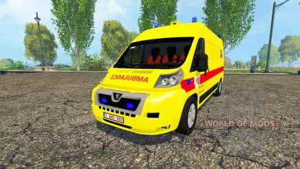 Peugeot Boxer Belgian Ambulance Klina для Farming Simulator 2015