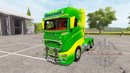 Scania R1000 John Deere v2.0 для Farming Simulator 2017