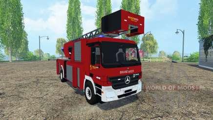 Mercedes-Benz Actros 4141 Belgian Fire Truck для Farming Simulator 2015