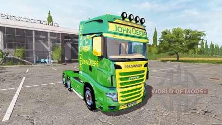 Scania R700 Evo John Deere для Farming Simulator 2017