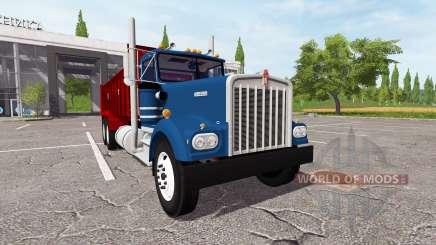 Kenworth W900A manure spreader для Farming Simulator 2017