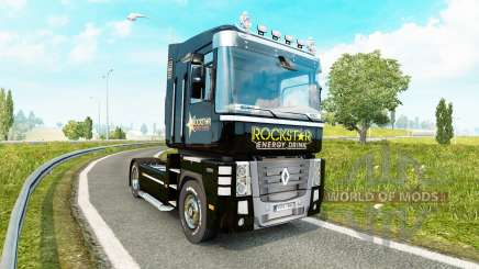 Скин Rockstar Energy на тягач Renault Magnum для Euro Truck Simulator 2