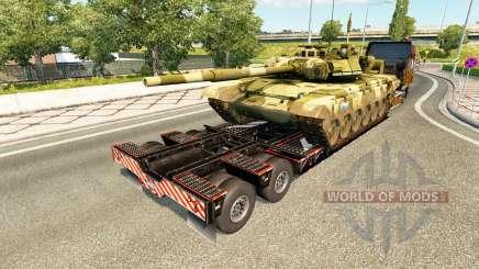 Полуприцепы с военной техникой v1.7 для Euro Truck Simulator 2