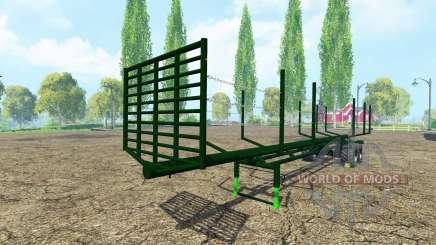 Semi-trailer timber для Farming Simulator 2015