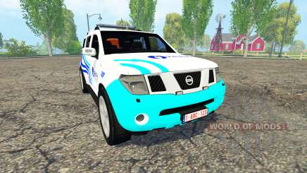 Nissan Pathfinder (R51) Belgian Local Police для Farming Simulator 2015