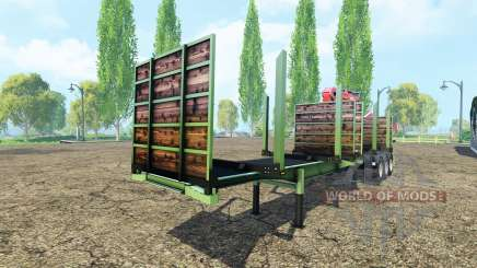 Timber trailer Fliegl для Farming Simulator 2015