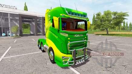 Scania R1000 John Deere для Farming Simulator 2017