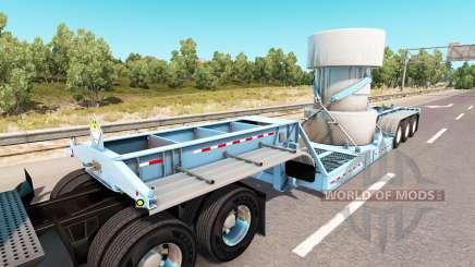 Низкорамный трал с грузом ядерных отходов для American Truck Simulator