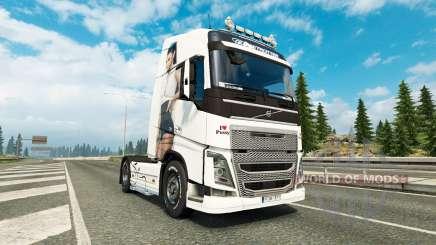 Скин Antonia на тягач Volvo для Euro Truck Simulator 2