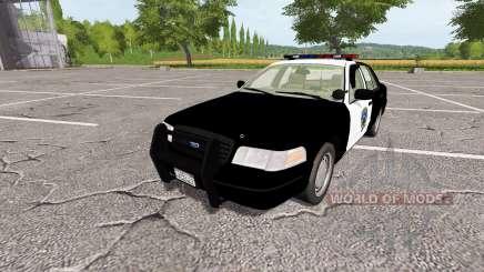 Ford Crown Victoria Police v1.1 для Farming Simulator 2017