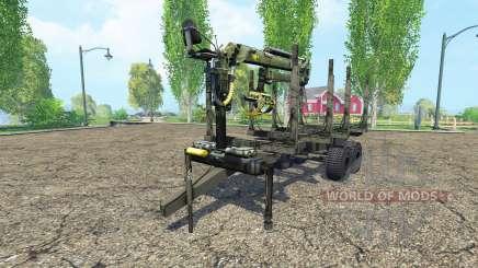 Timber trailer для Farming Simulator 2015
