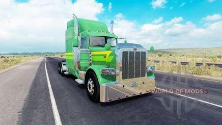 Скин Lines of 3 на тягач Peterbilt 389 для American Truck Simulator