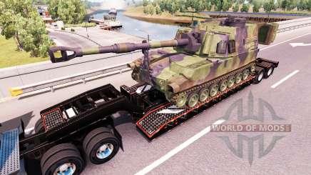 Полуприцепы с военной техникой v1.0.1 для American Truck Simulator