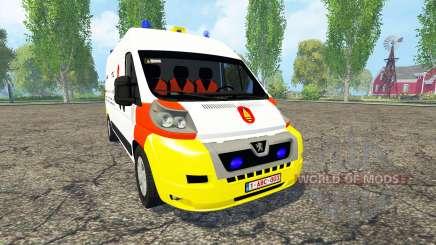 Peugeot Boxer Belgian Bomb Squad для Farming Simulator 2015