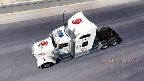 Скин Alabama на тягач Kenworth W900 для American Truck Simulator