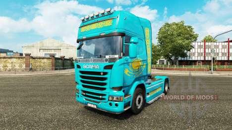 Скин Казахстан на тягач Scania для Euro Truck Simulator 2