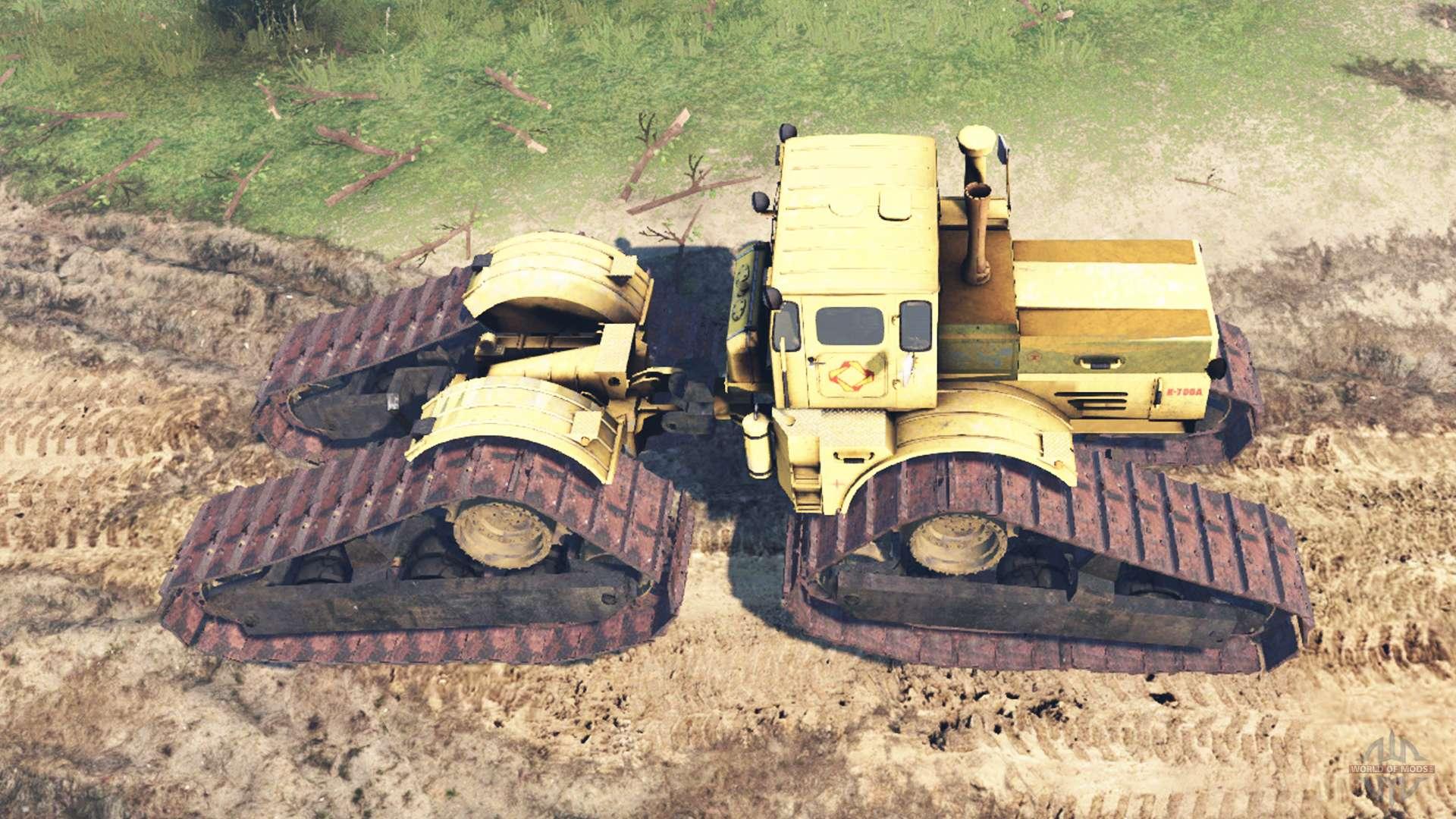 Битва тракторов, кировец к-700 vs гусеничный т-100, кто кого?