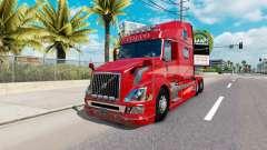 Скин Red Fantasy v2.0 на тягач Volvo VNL 780