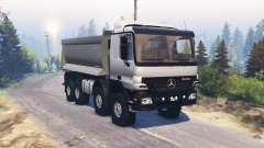 Mercedes-Benz Actros (MP2) 8x8 v1.1 для Spin Tires