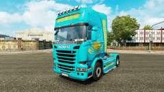 Скин Казахстан на тягач Scania