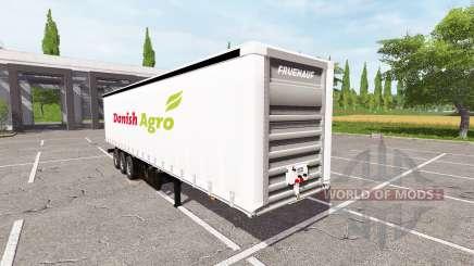 Semitrailer Danish Agro для Farming Simulator 2017
